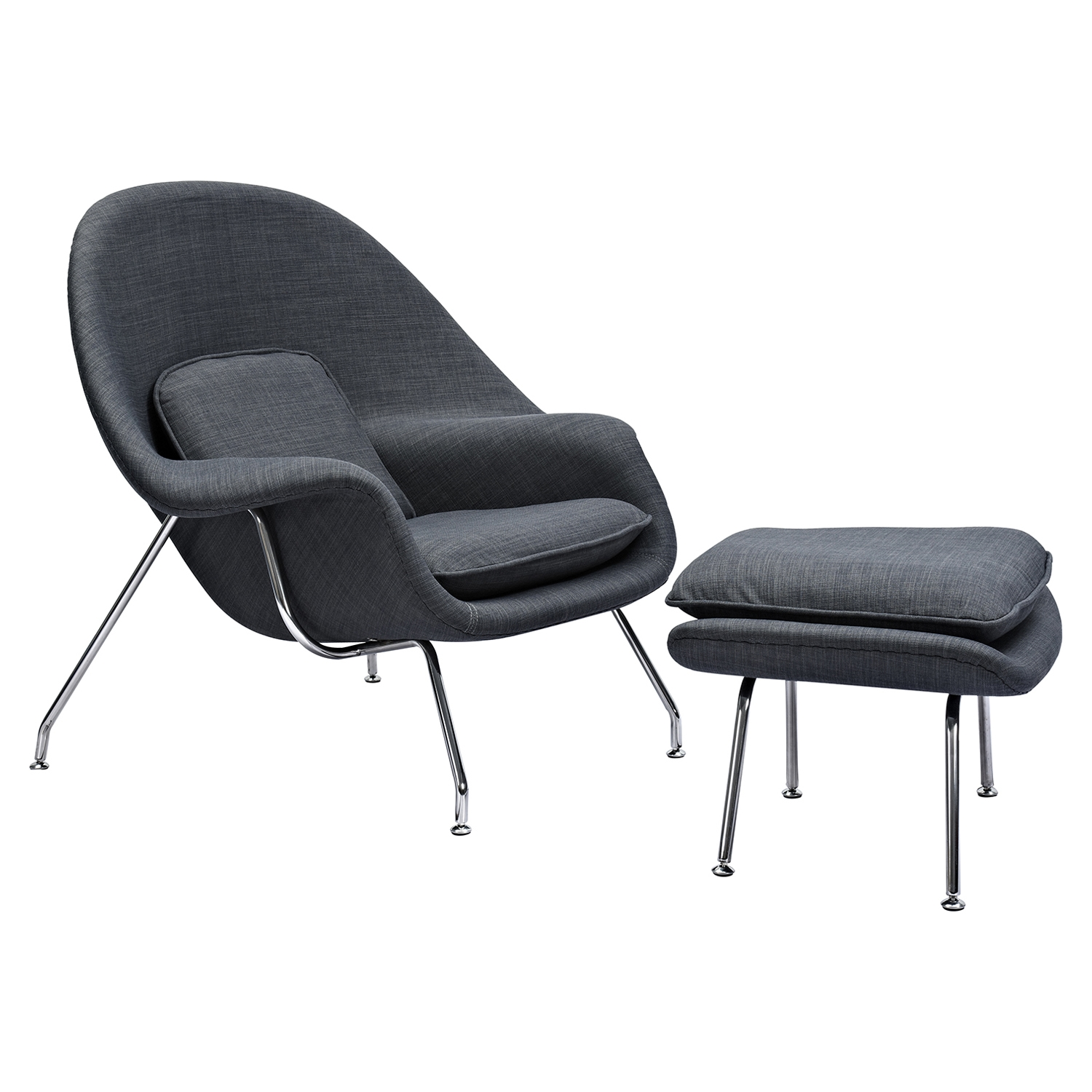 Saro Upholstered Chair - Charcoal Gray