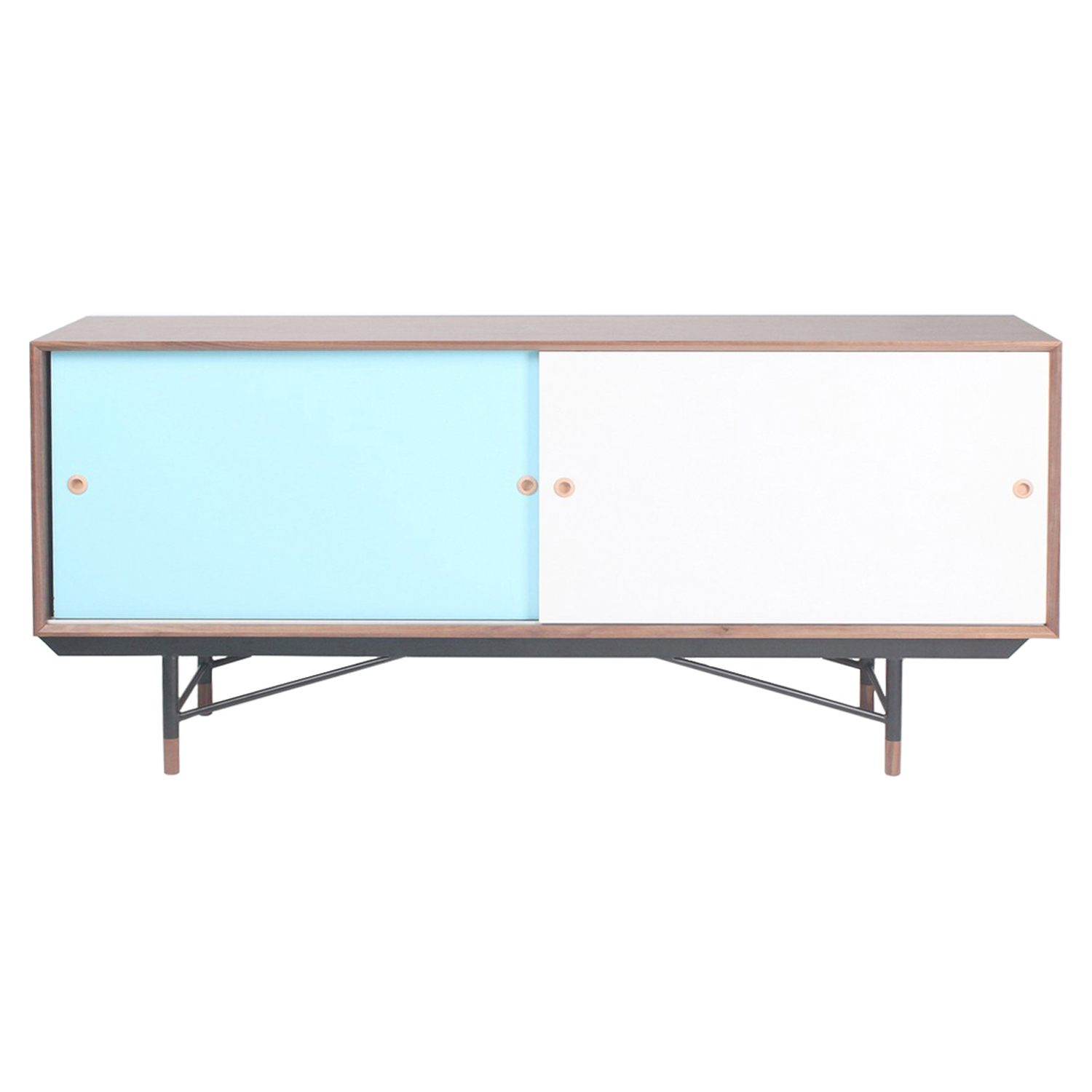 Soren Sideboard - Walnut and Blue