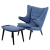 Bjorn Button Tufted Upholstery Chair - Dodger Blue