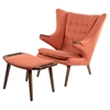 Bjorn Button Tufted Upholstery Chair - Retro Orange