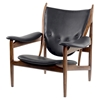 Arne Button Tufted Armchair - Jet Black