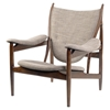 Arne Button Tufted Armchair - Light Taupe