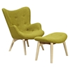 Aiden Button Tufted Upholstery Chair - Avocado Green