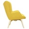 Aiden Button Tufted Upholstery Chair - Papaya Yellow - NYEK-445561
