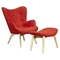 Aiden Button Tufted Chair - Lava Red - NYEK-445562