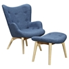 Aiden Button Tufted Upholstery Chair - Dodger Blue