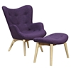 Aiden Button Tufted Upholstery Chair - Plum Purple