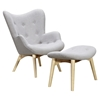 Aiden Button Tufted Upholstery Chair - Glacier White