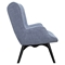 Aiden Button Tufted Upholstery Chair - Slate Blue - NYEK-445568