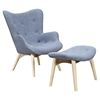 Aiden Button Tufted Upholstery Chair - Slate Blue