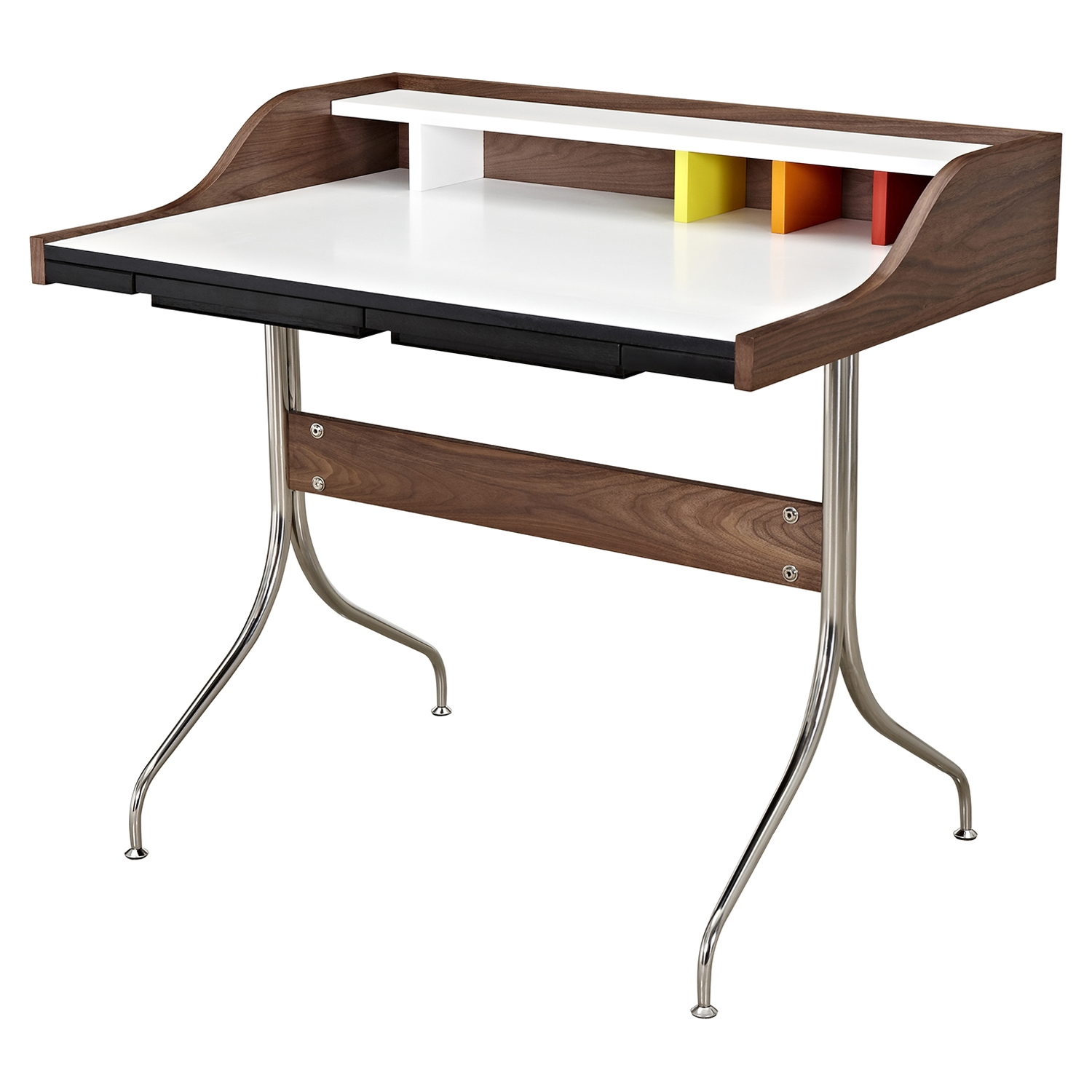 Liam Desk - Walnut and Orange - NYEK-445575-B