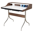 Liam Desk - Walnut and Blue
