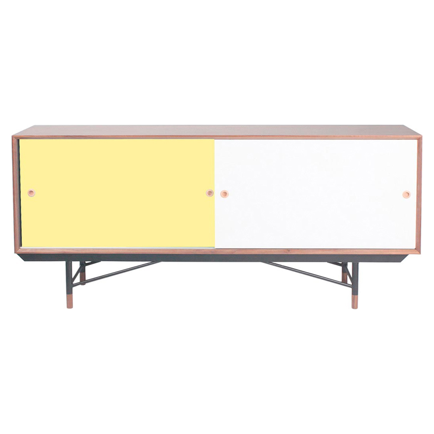 Soren Sideboard - Walnut and Yellow, Red