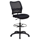 Space Seating 13 Series Deluxe Black Drafting Chair