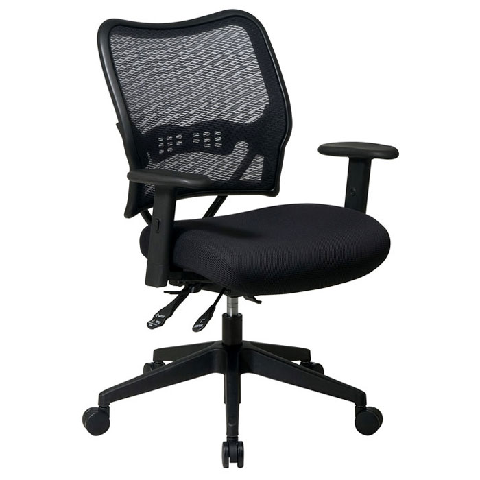 Space Seating 13 Series Deluxe Office Chair with Adjustable Arms