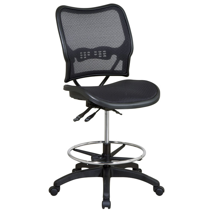 Space Seating 13 Series Deluxe Ergonomic AirGrid Drafting Chair - OSP-13-77N30D