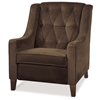 Avenue Six Curves Chocolate Tufted Chair