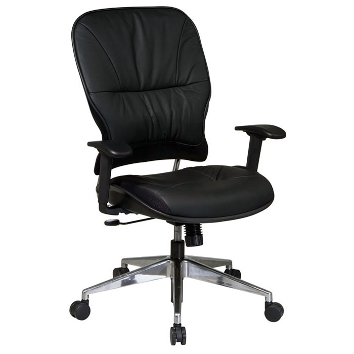 Space Seating 32 Series Manager's Chair with Polished Aluminum Finished Base