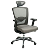 Pro-Line II Gray ProGrid High Back Office Chair with Adjustable Mesh Headrest