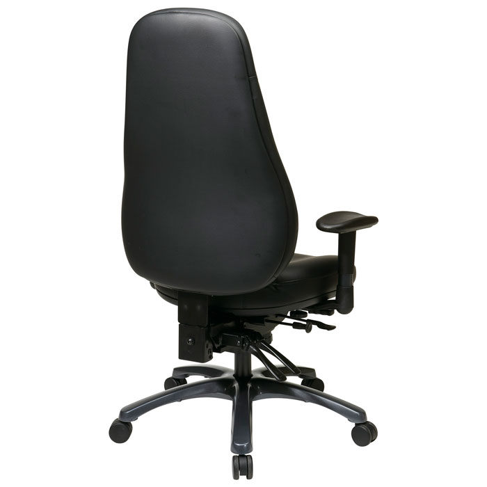 Pro-Line II Ergonomic Black Eco-Leather Office Chair - OSP-54892-EC3