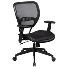 Space Seating 55 Series Black AirGrid Seat and Back Task Chair