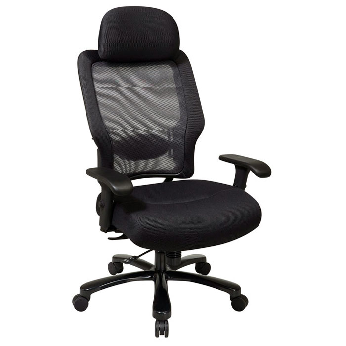 Space Seating 63 Series Professional AirGrid Back and Black Mesh Seat Office Chair