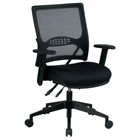 Space Seating 67 Series Professional AirGrid Back and Black Mesh Managers Chair