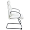 Pro-Line II 7275 - Deluxe Mid Back White Leather Visitor's Chair with Sled Base - OSP-7275