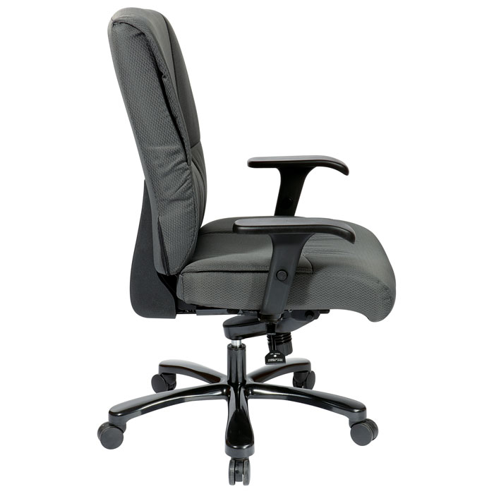 Pro-Line II 7602 - Big and Tall Deluxe Gray Fabric Executive Chair - OSP-7602