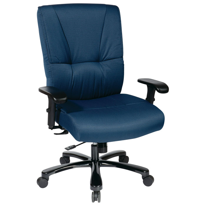 Pro-Line II 7605 - Big and Tall Deluxe Blue Executive Chair with Adjustable Arms