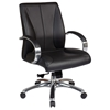 Pro-Line II 8001 - Deluxe Mid Back Executive Chair in Black Leather