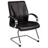 Pro-Line II 8005 - Black Leather Visitor's Chair with Sled Base