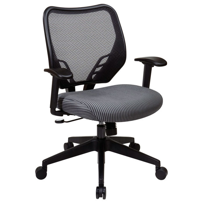 Space Seating 81 Series Charcoal VeraFlex Seat and AirGrid Back Manager's Chair - OSP-81-V47N18P