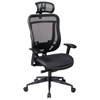 Space Seating 818 Series Executive High Back Mesh Office Chair with Adjustable Headrest