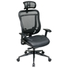 Space Seating 818 Series Executive High Back Office Chair with Mesh Headrest