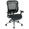 Space Seating 818A Series Executive High Back Mesh Chair with Polished Aluminum Base