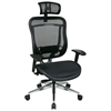 Space Seating 818A Series Executive Mesh Office Chair with Adjustable Headrest