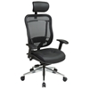 Space Seating 818A Series Executive Leather Seat and Headrest Office Chair