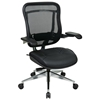 Space Seating 818A Series Executive High Back Leather Seat Chair with Cantilever Arms