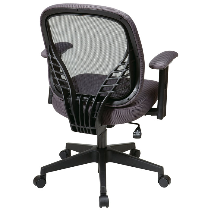 Space Seating 819 Series DuraGrid Back and Charcoal Mesh Seat Manager's Chair - OSP-819-23N8WF