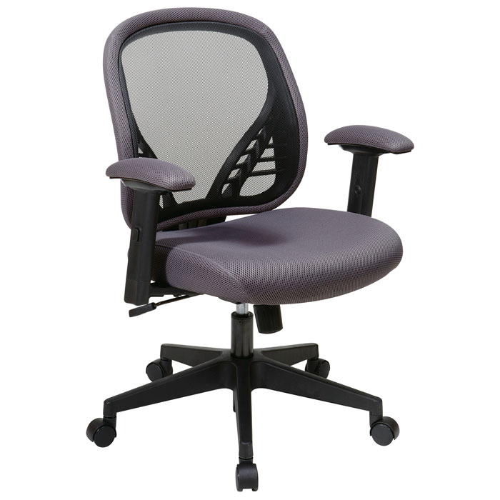 Space Seating 819 Series DuraGrid Back and Charcoal Mesh Seat Manager's Chair