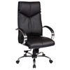 Pro-Line II 8200 - Deluxe Black Leather Executive Chair with Chrome Base