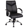 Pro-Line II 8201 - Deluxe Mid Back Leather Office Chair with Curved Padded Arms