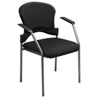 Pro-Line II Titanium Finished Frame Stacking Visitors Chair with Nylon Arms