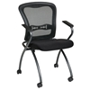 Pro-Line II Folding Deluxe ProGrid Back Chair with Nylon Arms (Set of 2)