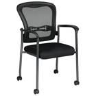 Pro-Line II ProGrid Mesh Back Stacking Visitors Chair with Casters