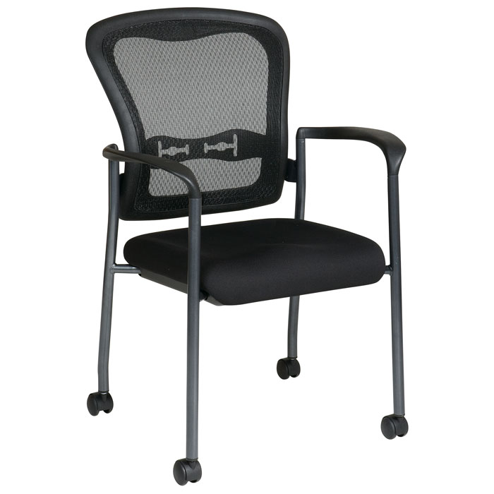 Pro-Line II ProGrid Mesh Back Stacking Visitor's Chair with Casters