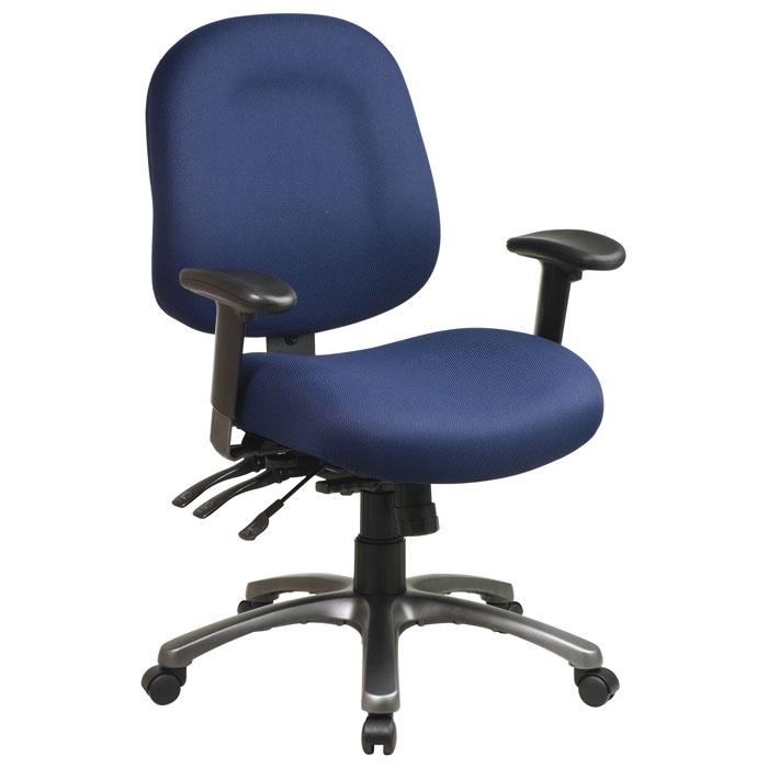 Pro-Line II 8512 - Multi-Function Mid Back Office Chair with Titanium Finished Base