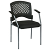 Pro-Line II Stacking Visitor's Chair with Ventilated Plastic Wrap Around Back