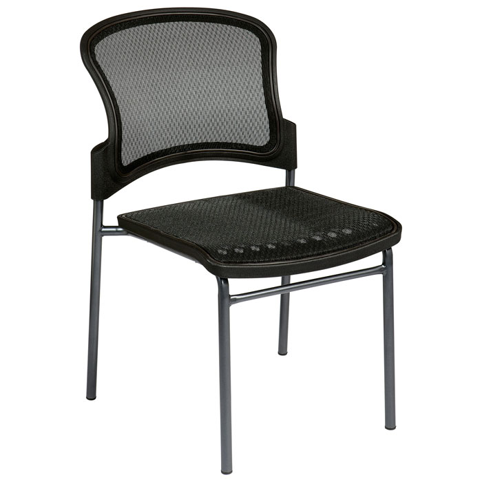 Pro-Line II Stacking ProGrid Seat and Back Visitor's Chair (Set of 2) - OSP-86726